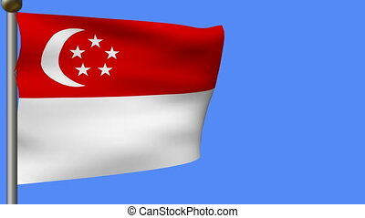 animation of flag of singapore