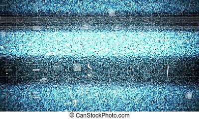 Animation of flickering screen with glitch and noise. retro technology interruption connection communication concept digitally generated image.