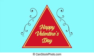 Animation of frame flower for Valentine day