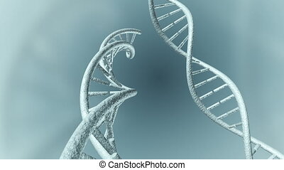 Animation of genetic DNA - An Animation of a DNA strand. A...