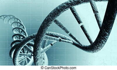 Animation of genetic DNA. Loop-able 4K