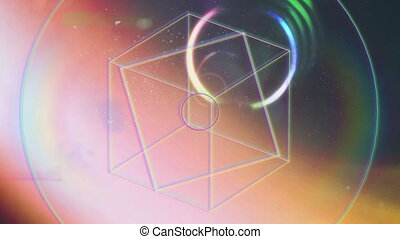 Animation of geometric shapes and colored tunnel - Animation...