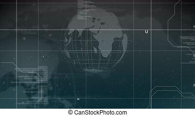 Animation of globe on black background