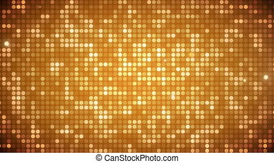 Animation of glowing yellow particles