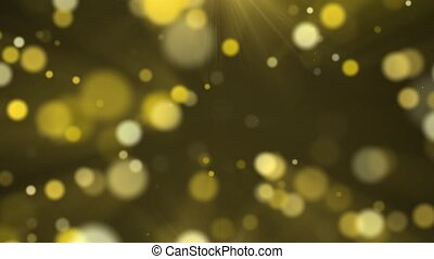 Animation of gold dust bokeh