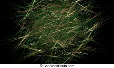 Animation of grass, nest