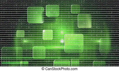 Animation of green squares