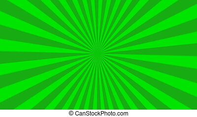 animation of green starburst