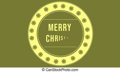 Animation of greeting card Merry Christmas