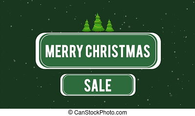 Animation of greeting card merry Christmas sale collection