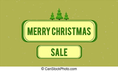 Animation of greeting card merry Christmas sale