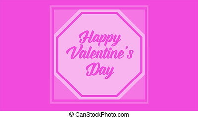 Animation of greeting Happy Valentine day collection