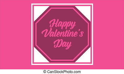 Animation of greeting Happy Valentine day