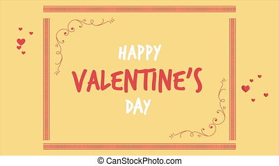 Animation of greeting Valentine day with ornament