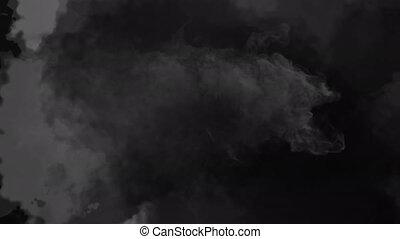 Animation of grey shadow on black background