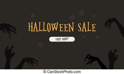 Animation of Halloween sale shop now