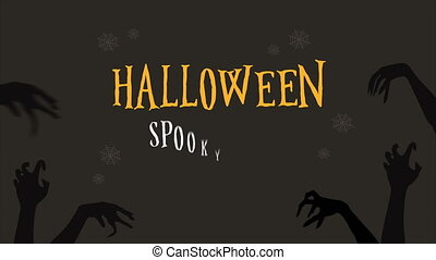 Animation of Halloween spooky sale background