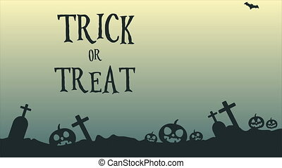 Animation of Halloween treat or trick