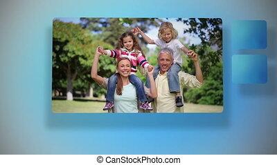 Animation of Happy family