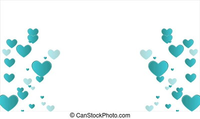 Animation of heart for greeting valentine day collection