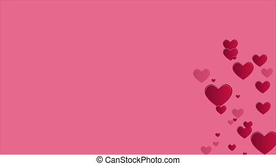 Animation of heart for greeting valentine day