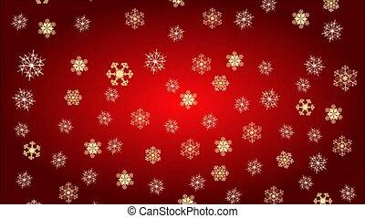 Christmas theme golden snowflakes