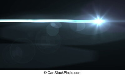 """Animation of Lens Flares on a black"""