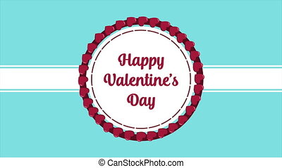 Animation of love for greeting happy Valentine day