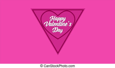 Animation of love shape for greeting valentine day
