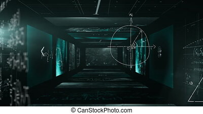 Animation of mathematical formulae over a tunnel of ...