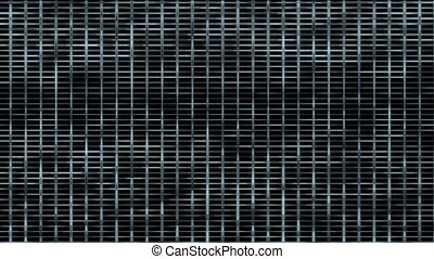 Animation of metal mesh background,seamless loop,1080p