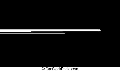Animation of moving wide white lines on a black background HD