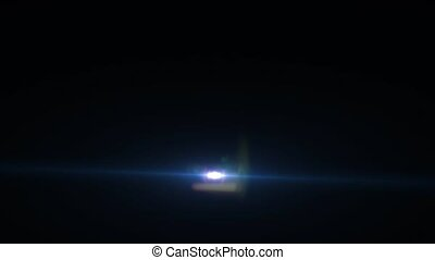 Animation of multicolored light highlights in the form of rays on a black background HD