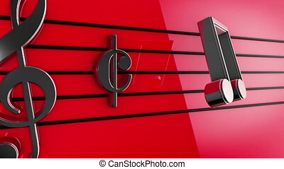 """""""Animation of Music notes on staves"""""""