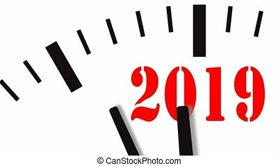 Animation of New Year count down clock. 60 FPS, 4K -...