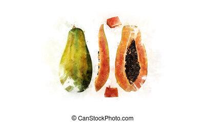 Animation of Papaya for decoration - Papaya animation, made...