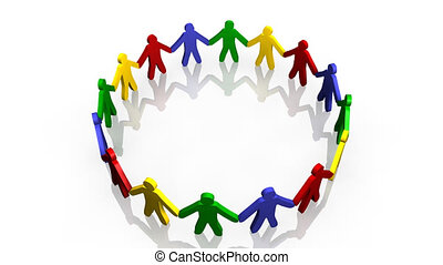 animation of people in circle