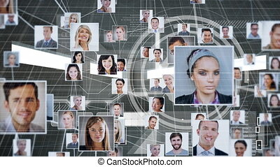 Animation of photos of people