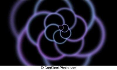 animation of purple flower pattern