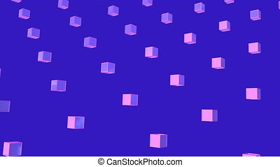 Animation of purple squares in purple background