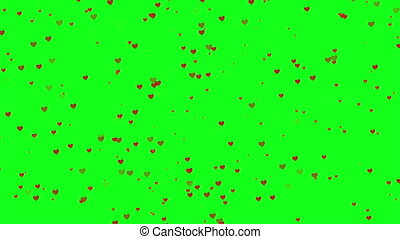 Animation of rain love with green screen for greeting valentine day collection