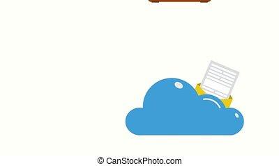 Animation of safe online cloud data storage - Motion design...