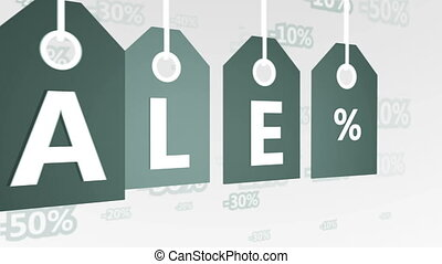 Sale special offer sticker gray. - Animation of Sale special...