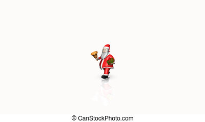 Animation of Santa Claus with prese - Animation of Santa...