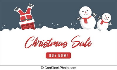 Animation of Santa clause. Chirstmas sale collection