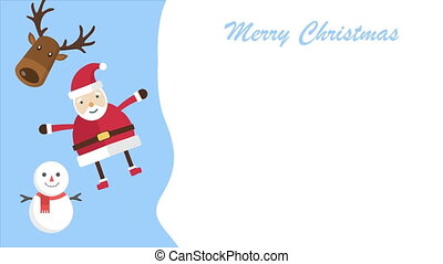 Animation of Santa clause. Christmas