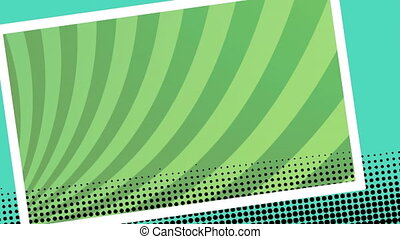 Animation of screen with rotating green stripes moving in seamless loop
