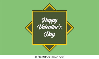 Animation of shape box for greeting valentine day