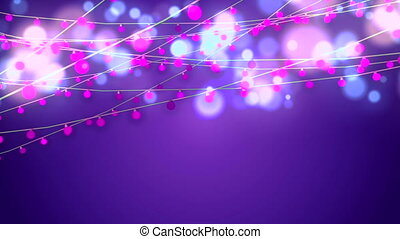 """Animation of Shining Pink Christmas String"" - ""A cheerful..."