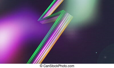 Animation of shiny colored lines